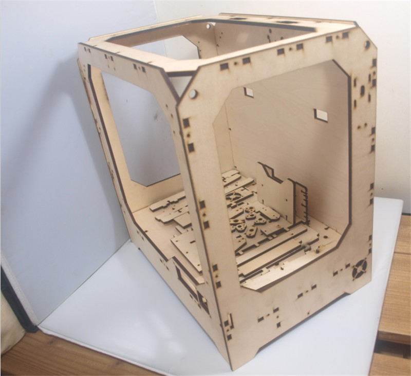 DIY-Reprap-extended-volume-Unofficial-Replicator-XL-V1-5-3D-printer-laser-cut-wooden-frame-kit (4)