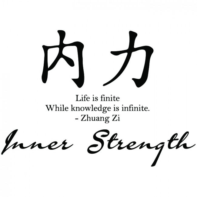Customized Color Available Wall Stickers Quotes Inner Strength