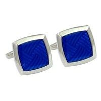 Wysokiej klasy mody mankiet przycisk elegancja męska niebieski proste teksturowane kryształowy kamień spinki Francuski koszula garnitur codziennego użytku akcesoria