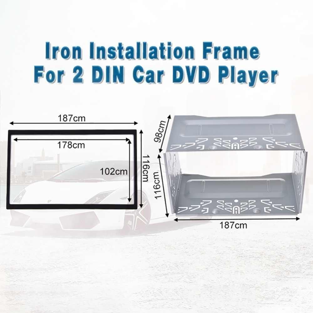 """6.2 """"2 Din ユニバーサル筋膜取付フレーム車のラジオ DVD プレーヤーキットステレオ Vw ジェッタチコゴルフボラ /ポロ/MK3/MK4 1997-2009"""
