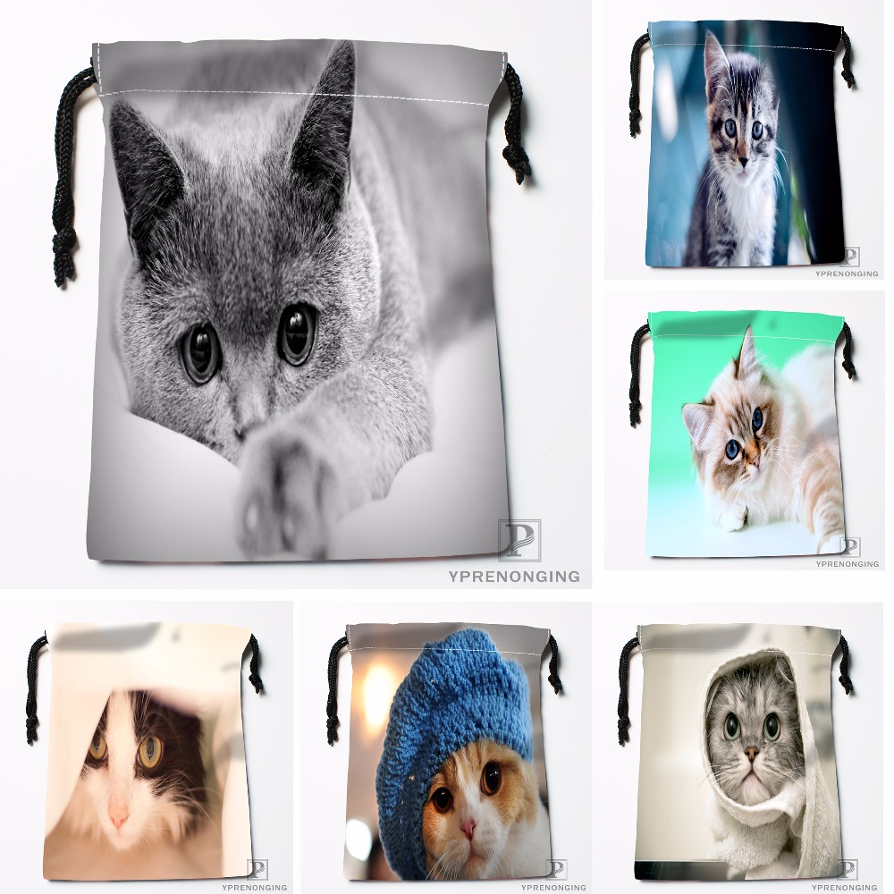 Custom Blue Eyes Drawstring Bags Travel Storage Mini Pouch Swim Hiking Toy Bag Size 18x22cm#0412-04-211