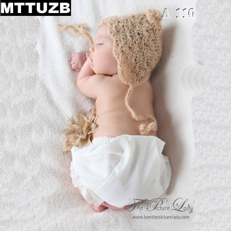 MTTUZB New arrival handmade baby boys girls Crochet hat newborn photo props infant hats accessories children Photography Props mttuzb newborn baby photography props infant knit crochet costume boys girls photo props children knitted hat pants set