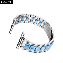 Strap for Apple watch band correa iwatch 42mm 38mm 44mm 40mm 3 2 1 Stainless steel link bracelet wrist Apple watch 4 Accessories osrui stainless steel for correa apple watch strap 4 44mm 40mm iwatch 3 wrist link bracelet for apple watch band 42mm 38mm belt