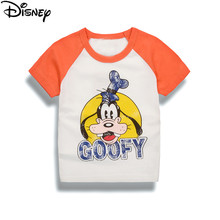 53bb8ae194d7a Disney Mickey Minnie Garçon Filles À Manches Courtes T-shirt Bébé de Bande  Dessinée Impression Tee Tops Enfants Coton Vêtements .