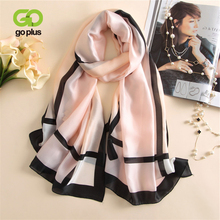 GOPLUS 2019 Spring Winter Plaid long Scarf Women Patchwork luxury shawls ladies hijab Vintage brand silk scarves Femme bandanna