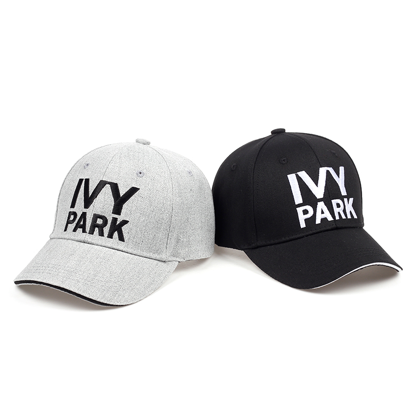 IVY PARK Baseball Cap Beyonce Sporty Style Cotton Hemp ash Hat Unisex Snapback Caps for Women Man Brand Embroidery Gorras