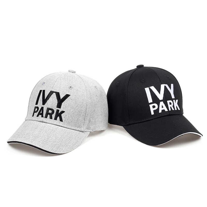 b80b51b706a IVY PARK Baseball Cap Beyonce Sporty Style Cotton Hemp ash Hat Unisex Snapback  Caps for Women