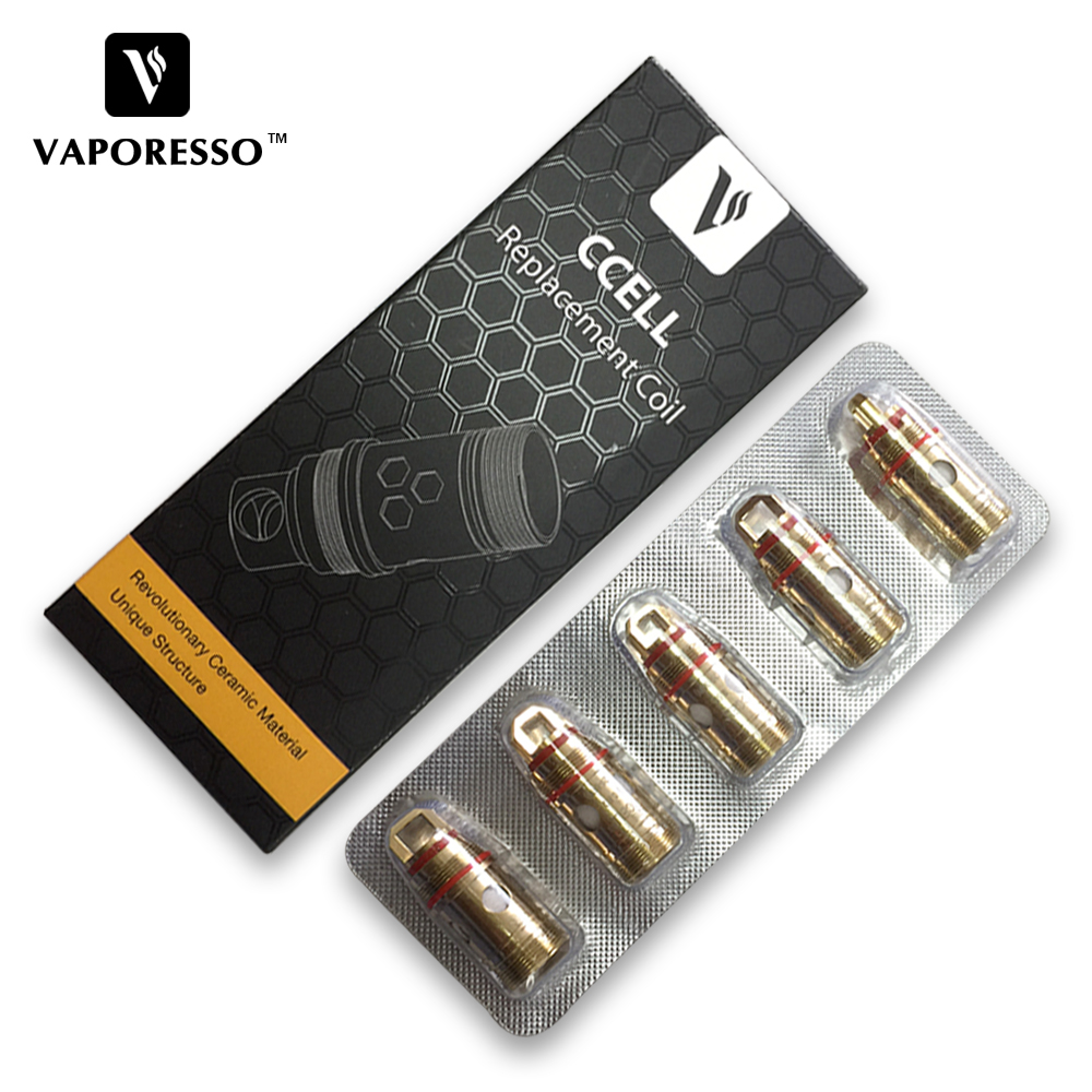 D'origine Vaporesso Céramique cCELL Remplacement Bobine 0.2ohm ni200 0.9ohm kal bobine 0.5ohm 0.6ohm pour Cible Réservoir 5 pcs/pack