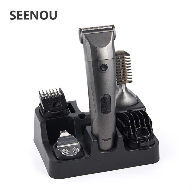 New 6 in 1 Rechargeable Multifunction Hair Trimmer Clipper Electric Shaver Beard Nose Ear eyebrow Hair Trimer Shaver for Men new arrival pritech brand electric hair clipper shaver nose trimmer for men traveling and good packing gift
