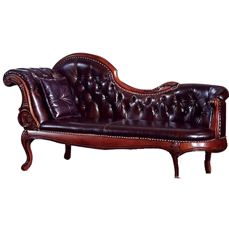Oak Carved Leather Chaise Longue Beauty Lying Small Apartment Bedroom Furniture Europe In Lounge From On Aliexpress