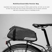 ROSWHEEL Водонепроницаемая велосипедная сумка для горной дороги велосипедная стойка для заднего сиденья багажника прочная и прочная сумка Аксессуары для велоспорта