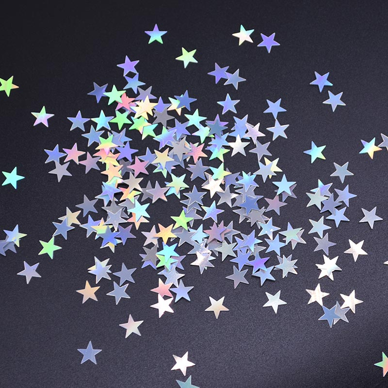 Image 2 - 6mm/10mm Colorful Bright Gold Stars Acrylic Confetti wedding for Balloon New year Wedding Birthday Party Table Decorations-in Banners, Streamers & Confetti from Home & Garden