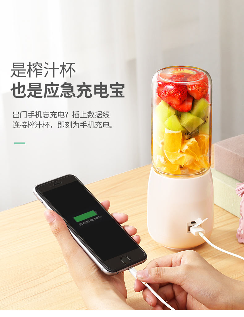 Juicer   Automatic  Portable USB Rechargeable Mini Juicer Machine Fruit Juicer Students Small Electric  Juice Cup 15