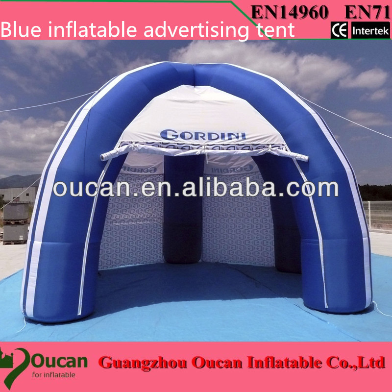 Free shippingwhite and sliver oxford cloth inflatable stage tent , inflatable party tents for events+free shipping