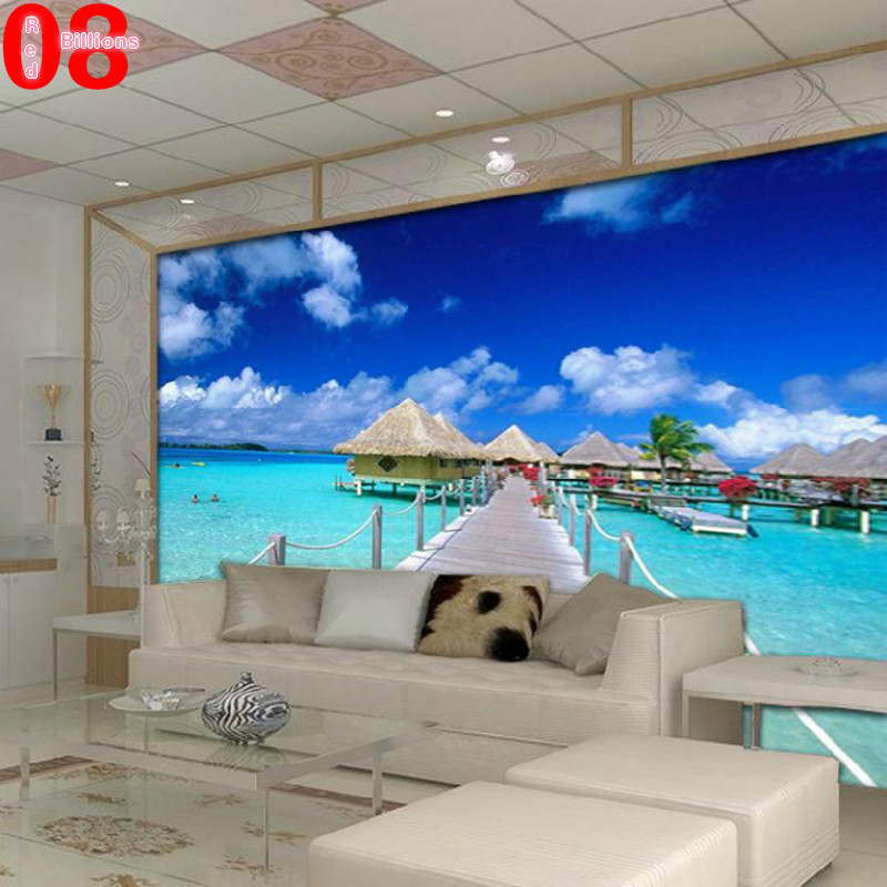 mural any size tv wall sofa blue sky wall wallpaper photo scenery living room wall paper decoration painting 3d in wallpapers from home improvement on