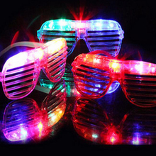 3pcs/lot Flashing Party LED Light Glasses for Christmas Birthday Halloween Decoration Supplies Glow Mask