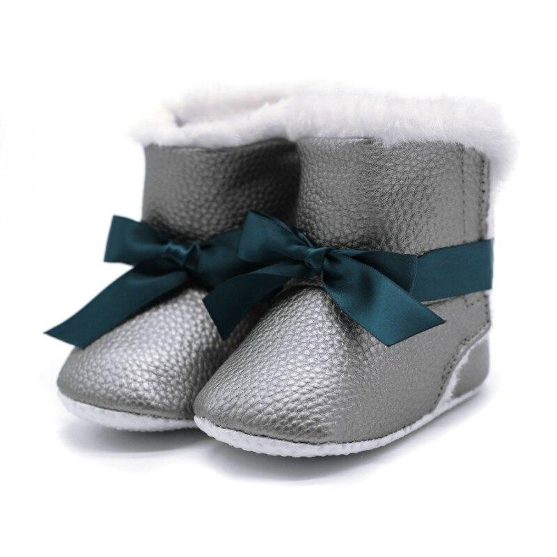 Winter Warm Baby Girls Princess Sweet Winter Boots First Walkers Newborn Infant Toddler Winter Shoes