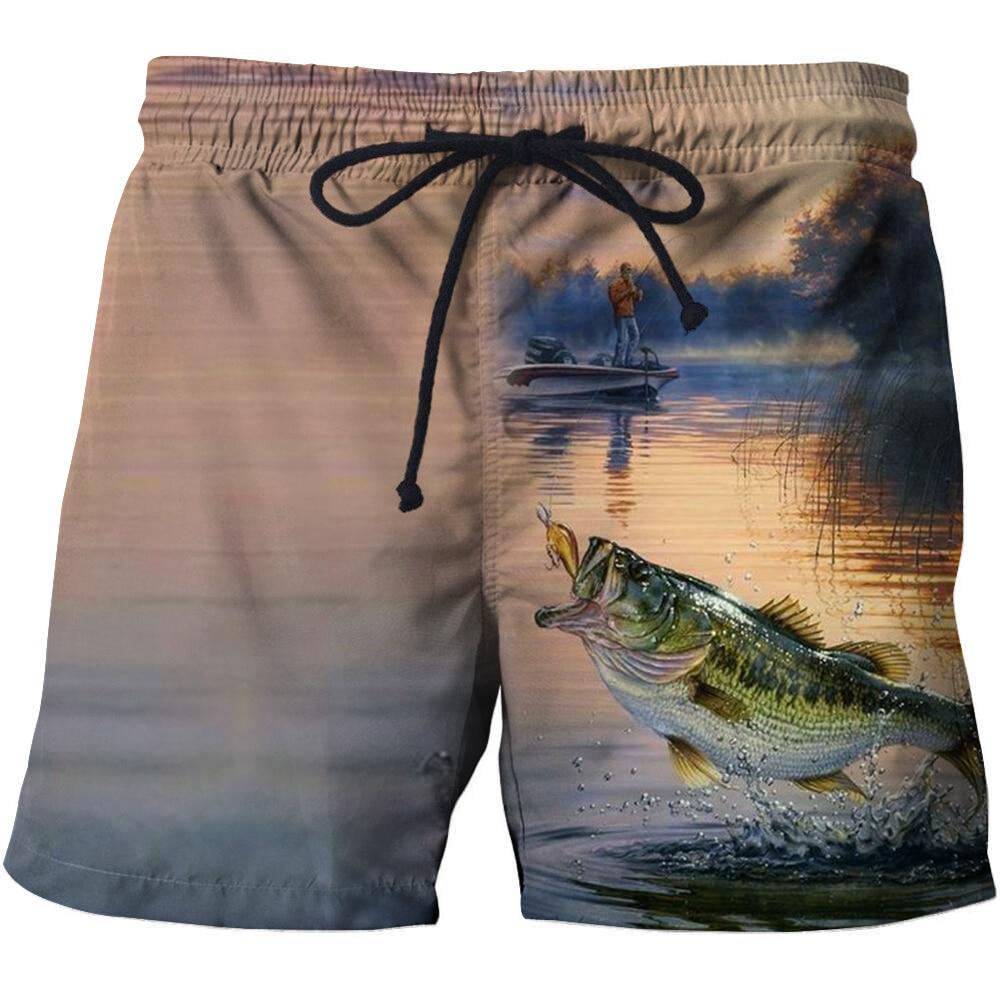 New 3D Fish Creative Beach   Shorts   Men Casual Elastic Band   Board     Shorts   Fitness Summer Pants Men's   shorts   Black Boys Dropship