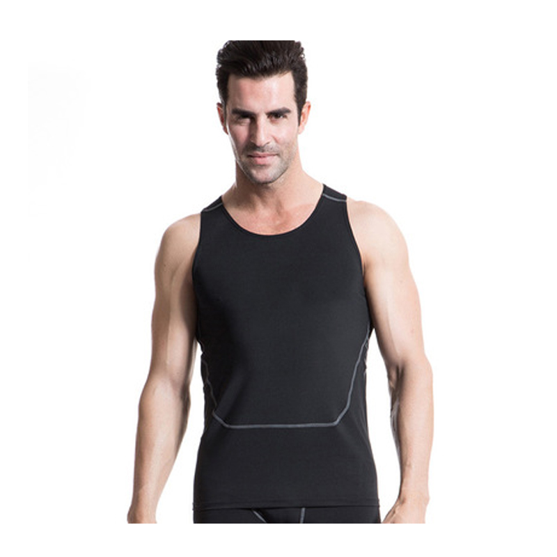 Incredible Mens Sport Ves Fitness Compression Body Shaper Firming Panels Vest Quick Dry Sleeveless Boxing Tank Base Layer Tops