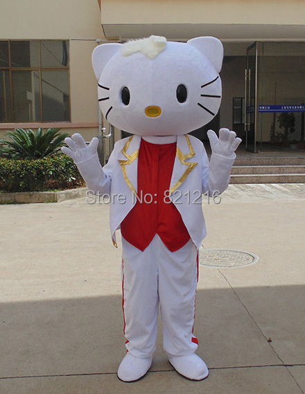 Male Hello kitty Mascot Costumes Gentleman Style Hello kitty Costumes