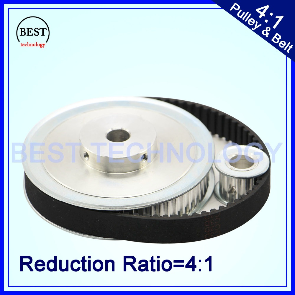 Timing Belt Pulley 5M Reduction  4:1 60teeth 15teeth  shaft center distance 80mm  Engraving machine accessories - belt gear kit xl reduction 1 6 6 1 10t 60t timing pulley gear set shaft center distance 100mm for engraving machine timing belt pulley kit