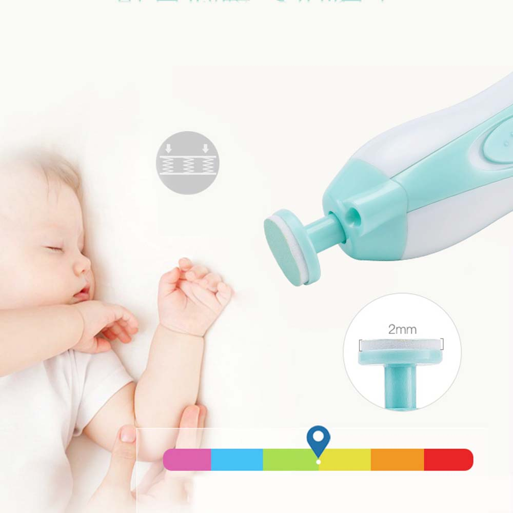 Portable Nail Care Baby Trimmers Kids Electric Infant Newborns Toddlers Fingernails Manicure Toenail Pedicure Device