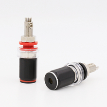 4PCS B6035R Rhodium Plated HIFI Amplifier Speaker Terminal Binding Post Socket 45mm