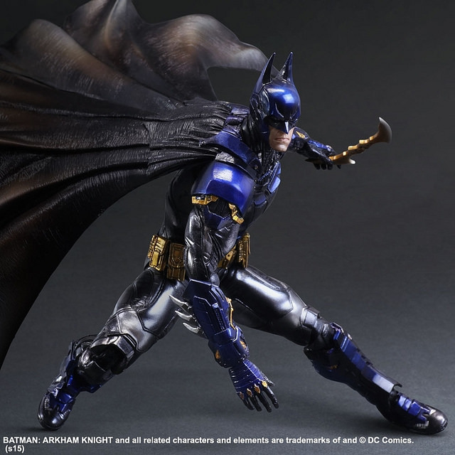 NEW hot ! 28cm Justice league Super hero batman Arkham Knight Blue limited edition action figure toys doll Christmas gift new hot 28cm justice league supergirl superman enhanced version action figure toys collection christmas toy doll with box