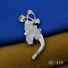 925 sterling silver pendant Inlay zircon angel wings pendants Unique silver jewelry angel pendant Popular jewelry pendants(China)