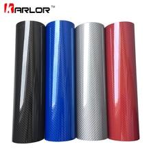 Car Styling 50*200cm DIY High Glossy 5D Carbon Fiber Vinyl W