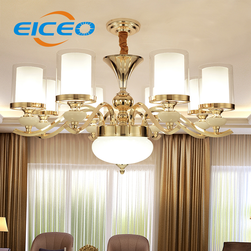 (EICEO) European Crystal Living Room Chandelier Modern Minimalist Bedroom Lights Atmosphere Restaurant Lghting LED Pendant Lamp a1 master bedroom living room lamp crystal pendant lights dining room lamp european style dual use fashion pendant lamps