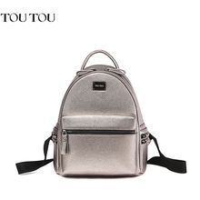 TOUTOU Rivet backpack women bag joker fashion and personality The high quality large capacity multi-functional bag Free shipping