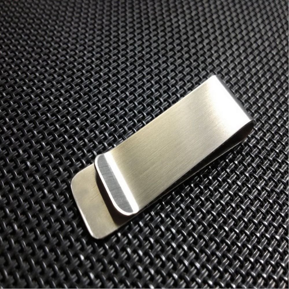 Stainless Steel Metal Wallet Creative Banknote Clip Business Paper Clip