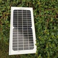 2 Pcs /Lot solar panel 5w 12v monocrystalline panneau solaire china painel solar fotovoltaico module photovoltaic factory price