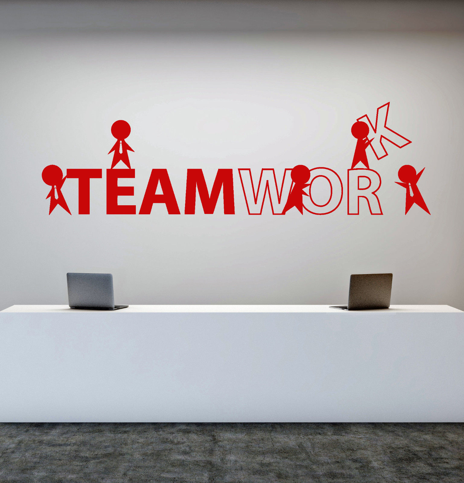 Vinyl Wall Decal Office Worker Style Teamwork Cartoon People Stickers