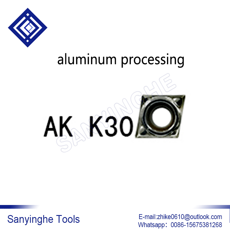 CCMT060204-AK K30 Free Shipping High Quality Sanyinghe 10pcs/lots  Cnc Carbide Turning Inserts For Aluminum