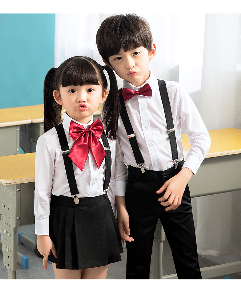 2018 winter children cotton korean japanese student school uniforms girls boys kid collar shirt top pleated skirt shorts tie out цена