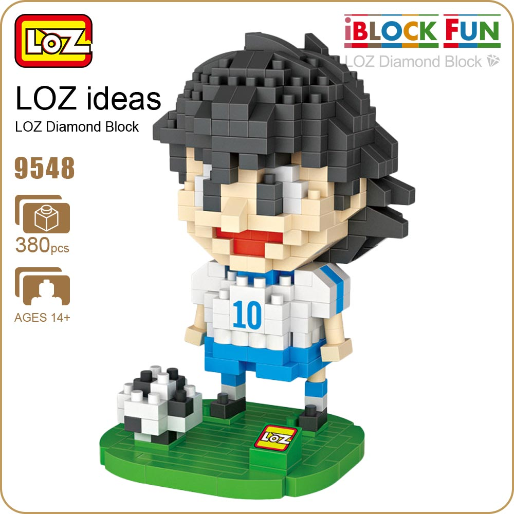 LOZ Diamond Blocks Figuras Classic Anime Figures Toys Captain Football Player Blocks I Block Fun Toys Ideas Nano Bricks 9548 loz diamond blocks figuras classic anime figures toys captain football player blocks i block fun toys ideas nano bricks 9548