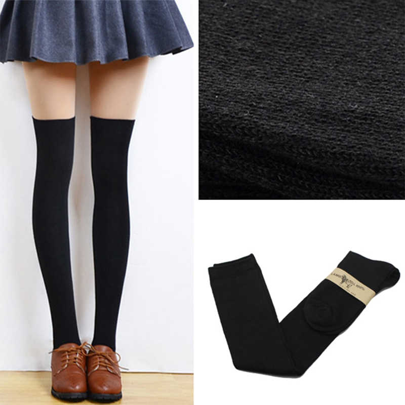 2015 новые 4 цвета модные женские носки сексуальные теплые облегающие Высокие гольфы длинные хлопковые чулки для девушек женские