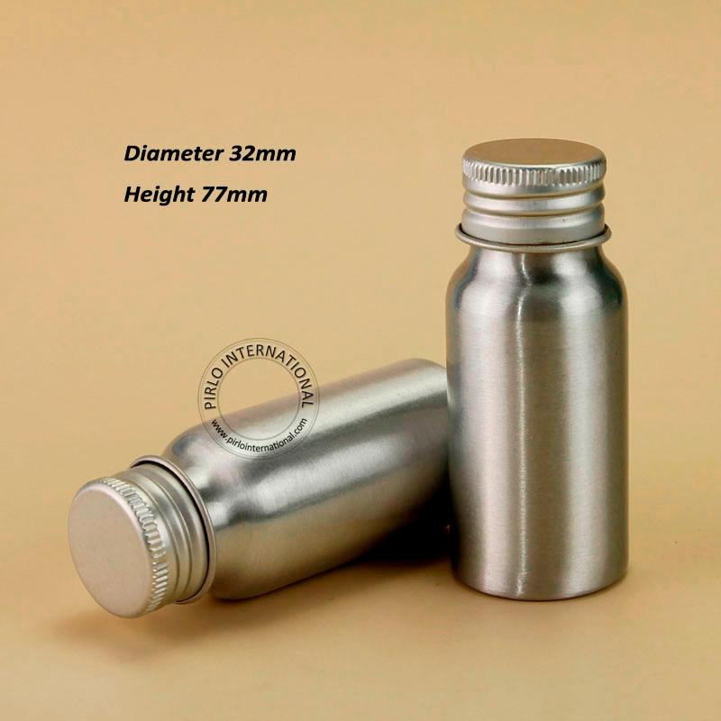 60pcs Lot Wholesale 30ml Empty Cosmetic Aluminum Bottle 1OZ Metal Makeup Container 30g Liquid Refillable Travel