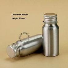60pcs/Lot Wholesale 30ml Empty Cosmetic Aluminum Bottle 1OZ Metal Makeup Container 30g Liquid Refillable Travel Packaging