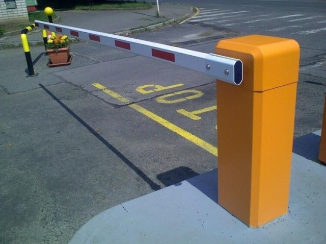 Boom barrier car parking electronic gate