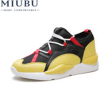 MIUBU 2019 Spring/Autumn Fashion Men Shoes Weaving Fly Mesh Breathable Casual Shoes Light Soft Comfortable Male Sneakers fires spring autumn new models men shoes fashion comfortable casual shoes for male soft mesh lazy shoes high top sock sneakers