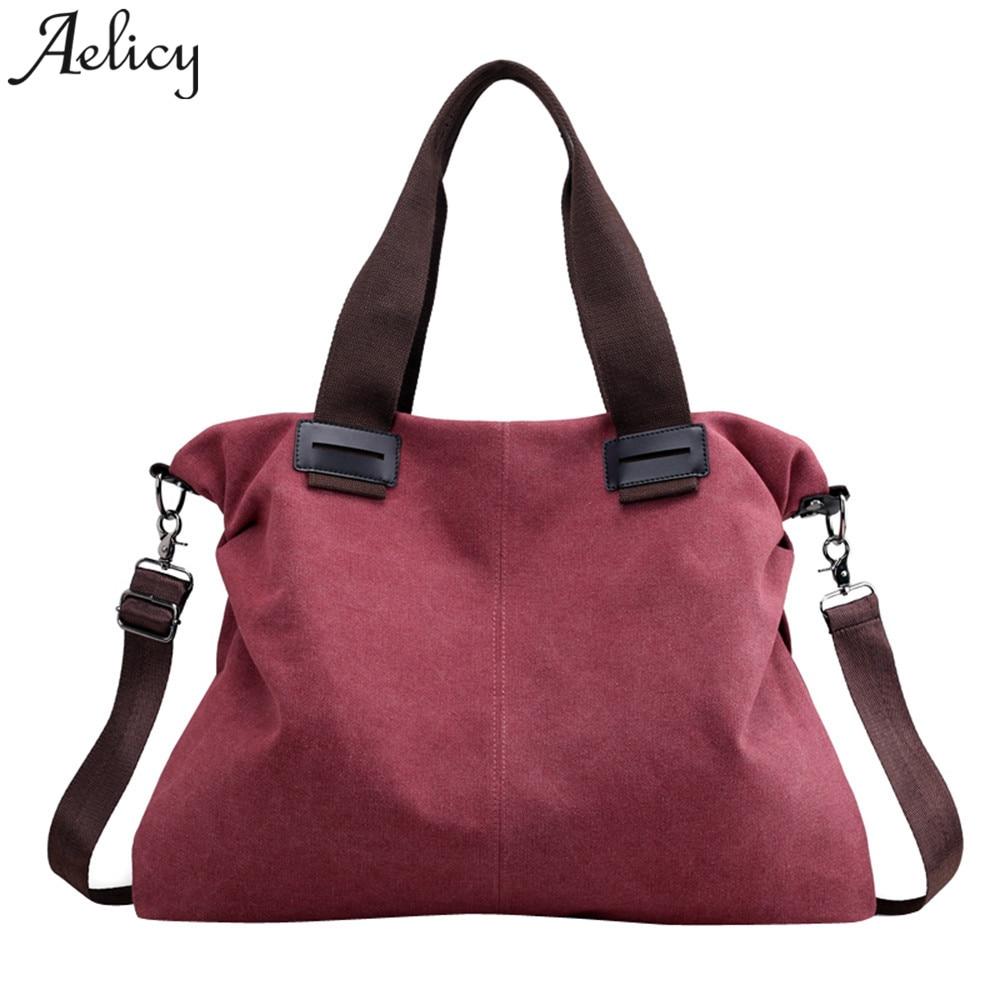 Bags For Women 2018 Girls Vintage Handbags Designercanvas Casual Totes Vintage  Female Hobos Female Handbag