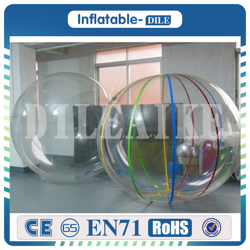 High Quality 2m/6.6ft Diameter 0.8mm PVC Inflatable Water Walking Ball For Sale