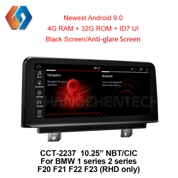 10.25 inch Black Screen for RHD BMW 1 2 series F20 F21 F22 23 Fast Delivery Android 9.0 NBT CIC Car Multimedia Radio Navigation image