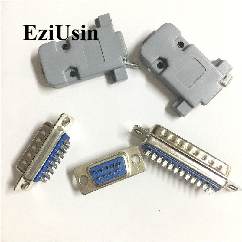 15 Pos VGA High Density DB9//HD15 Female Solder Connector Lot of 10