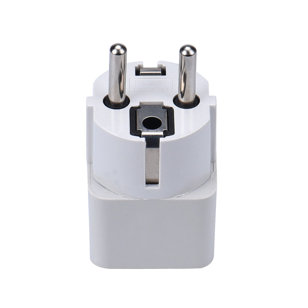 2017 US UK AU to EU plug Charger Adapter Converter High Qulity Home Travel Charging for Mobile phone Cargador White