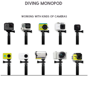 "Image 4 - פעולה מצלמה POV פולה 36 ""גלישה צלילה להארכה GoPro selfie מקל מוט חדרגל לgopro HERO 5 4 3 עבור SJCAM יי"