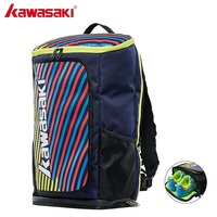 2019 Kawasaki Waterproof Badminton Rackets Bag Tennis Backpack Squash Racquet Team Sports Bags Can Hold 2 Rackets With Shoe Bag